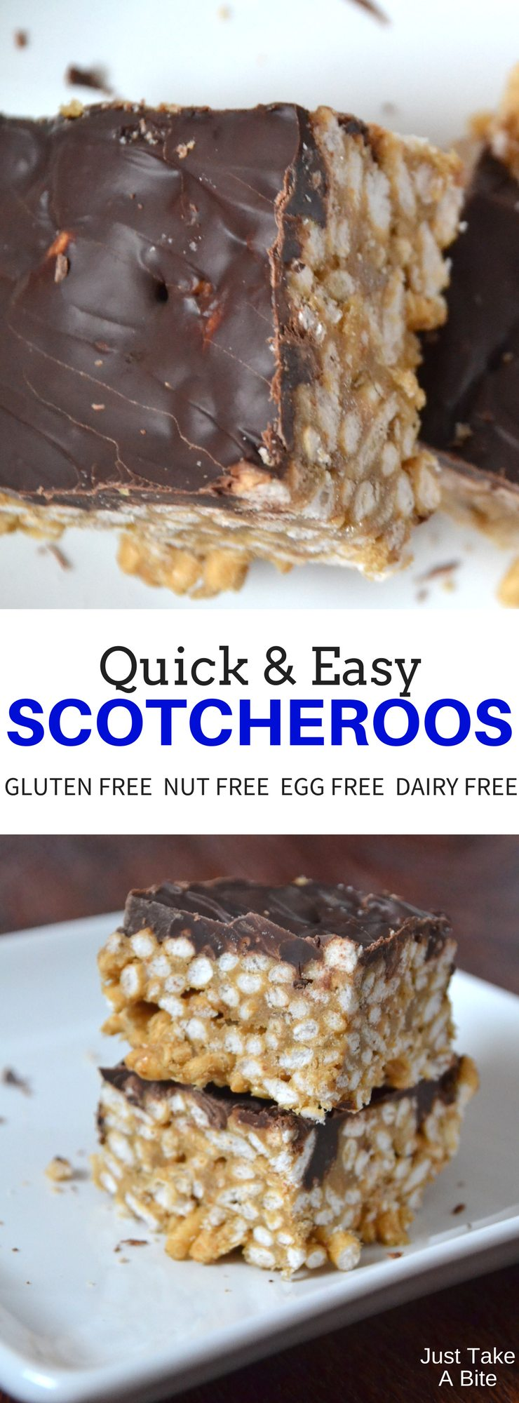 These scotcheroos come together in about ten minutes, using real, allergen friendly ingredients. A simple, delicious dessert with no baking required!