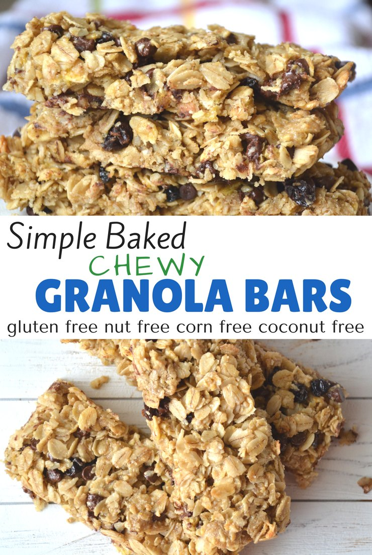 When it comes to replacing store-bought snacks with homemade it doesn't get much easier than granola bars. These chewy granola bars come together in minutes. The hardest part is waiting for them to bake!