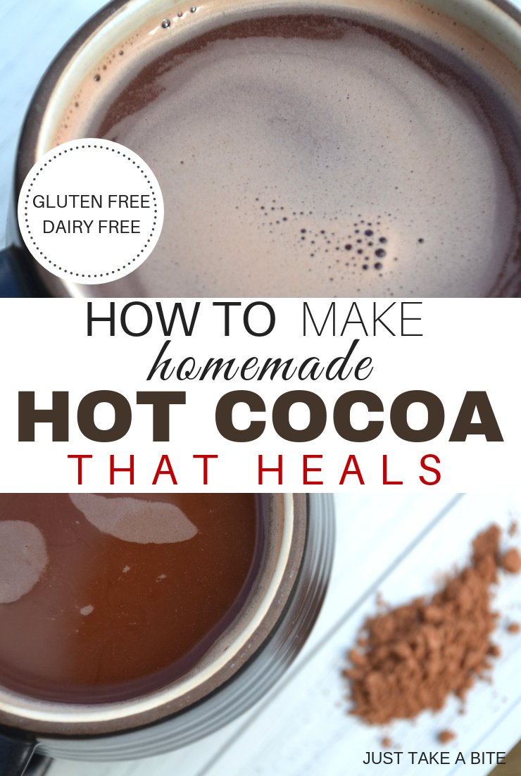 This healing hot cocoa will warm you up, keep you hydrated and nourish your body. Plus it tastes great! The perfect cold weather drink. #realfood #glutenfree #homemade