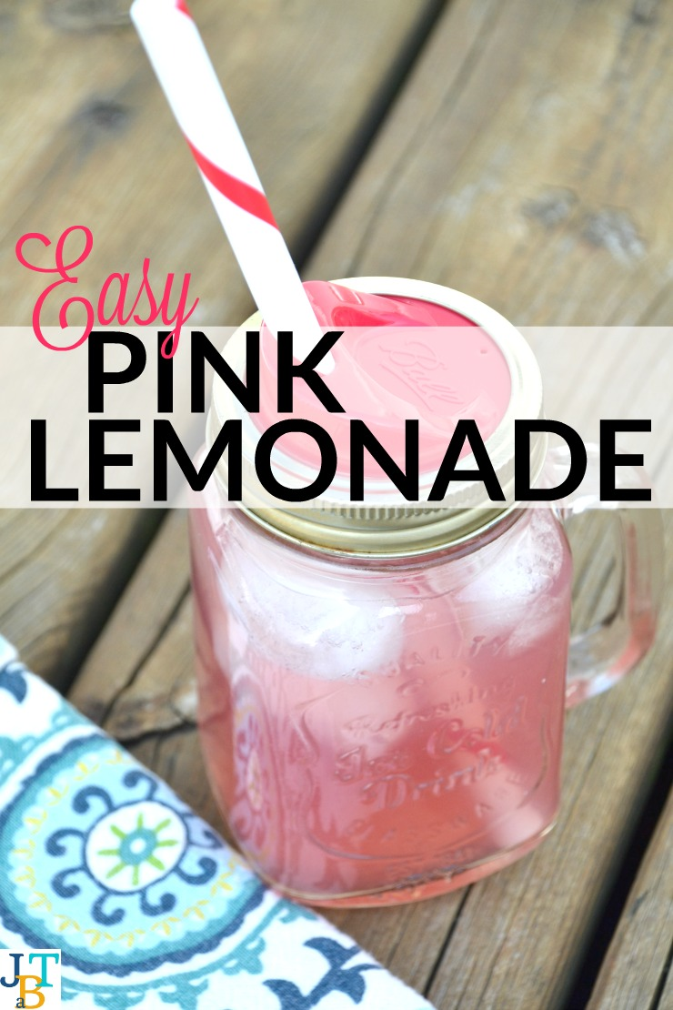 Easy Pink Lemonade | Just Take A Bite
