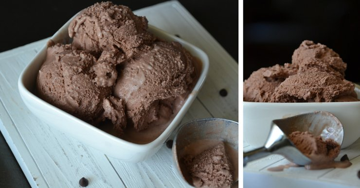 This salted dark chocolate ice cream has the perfect balance of salty and sweet in creamy, rich chocolate.