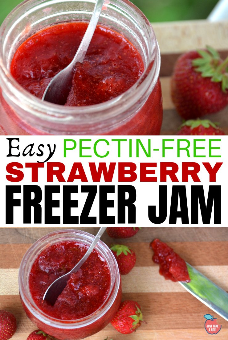 Summer preservation just got a little easier. This pectin-free easy strawberry freezer jam is the perfect way to use fresh strawberries. Just FOUR real food ingredients!