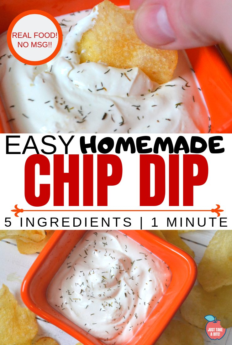 Chips and dip make a great side dish for any party or picnic. Make it real food style with this easy homemade chip dip. Just ONE ingredient plus seasoning.