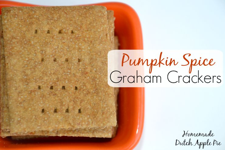 Pumpkin Spice Graham Crackers | Homemade Dutch Apple Pie
