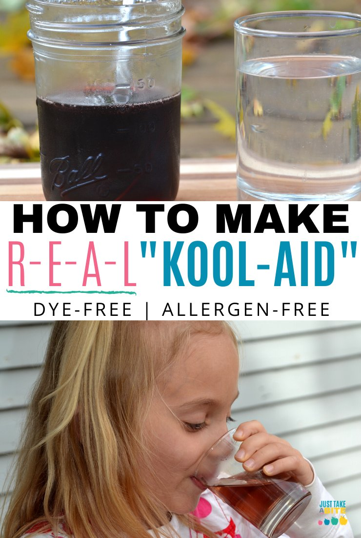 "How to make REAL ""Kool-Aid"" - A simple, dye-free drink for kids."