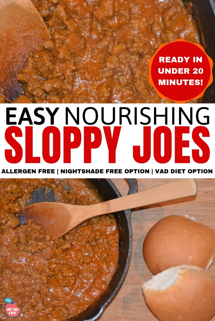Looking for an easy weeknight dinner that the kids will love and can meet any dietary needs? My nourishing sloppy joes are very kid-friendly and can be on the table in less than 20 minutes!
