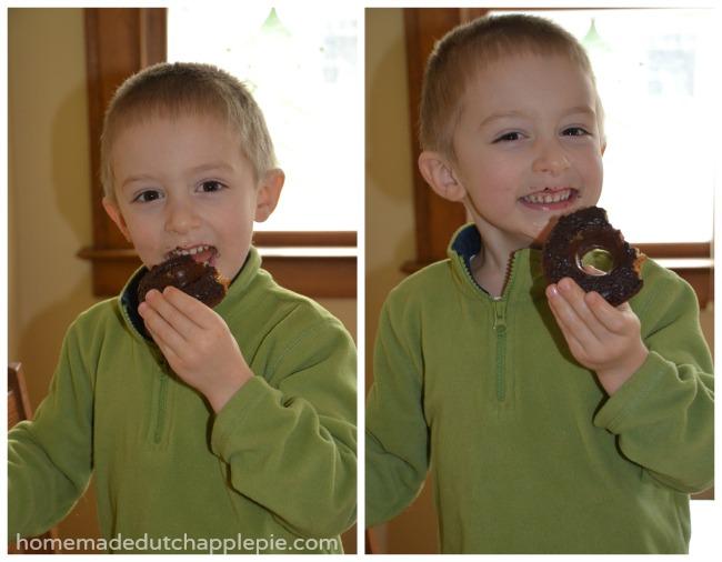 Soaked Donuts With Chocolate Vanilla and Lemon Glaze {Gluten Free Dairy Free Nut Free Corn Free} || Homemade Dutch Apple Pie