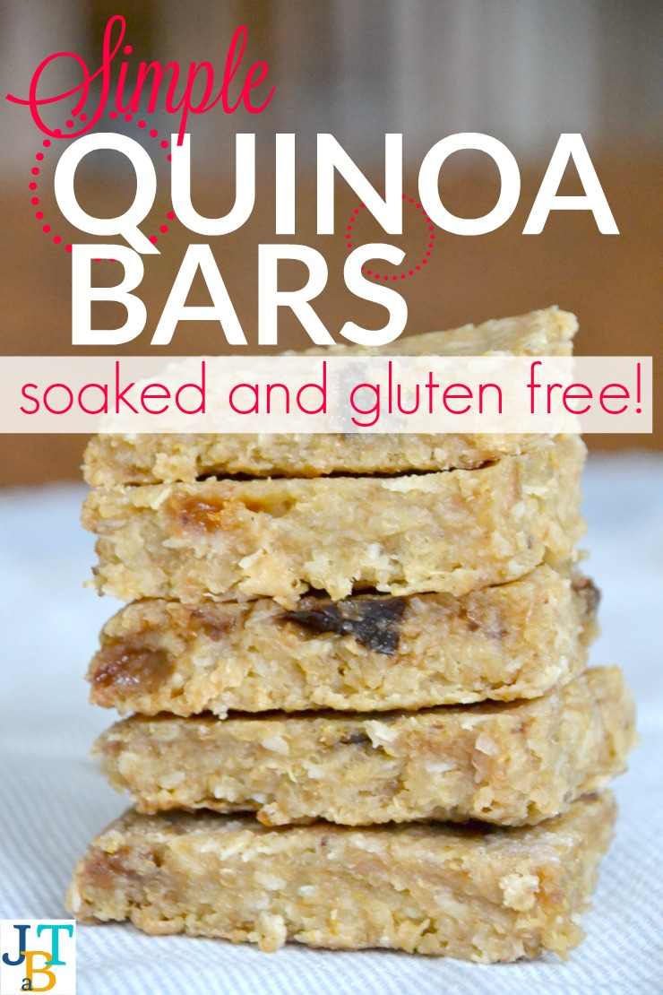 Simple Soaked Quinoa Bars Just |Take A Bite