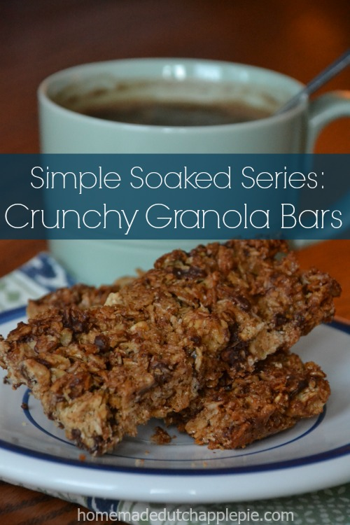 Skip the boxed granola bars loaded with HFCS and non-food like glycerin and was. Homemade crunchy granola bars made with soaked oats are easy and healthy!