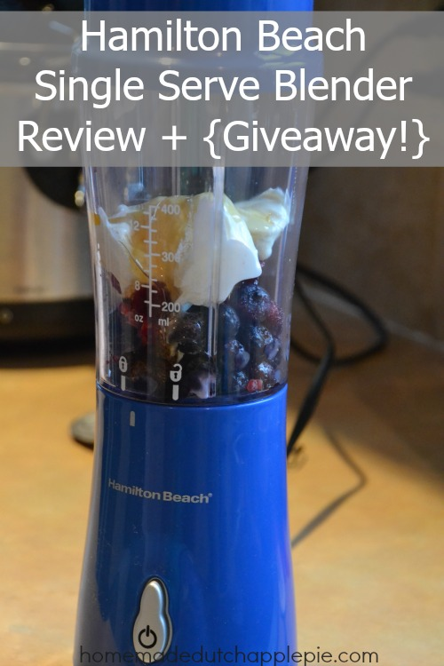 Hamilton Beach Single Serve Blender Review Giveaway