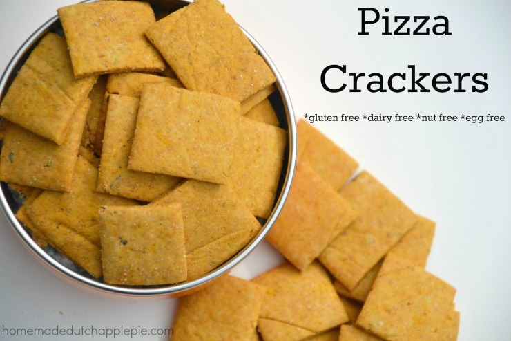 Gluten Free Pizza Crackers | Homemade Dutch Apple Pie
