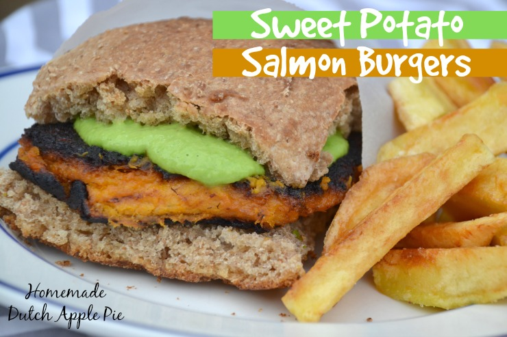 Sweet Potato Salmon Burgers | Homemade Dutch Apple Pie