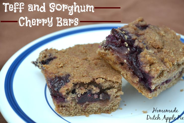 Teff and Sorghum Cherry Bars | Homemade Dutch Apple Pie