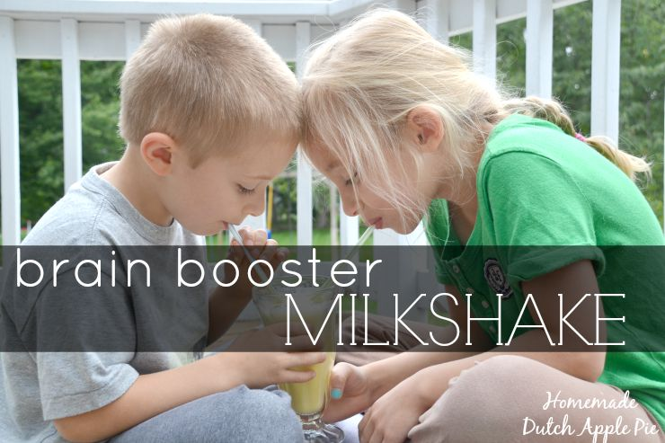 Brain Booster Milkshake | Homemade Dutch Apple Pie