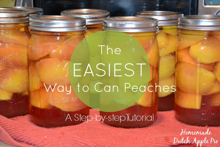 The Easiest Way to Can Peaches | Homemade Dutch Apple Pie