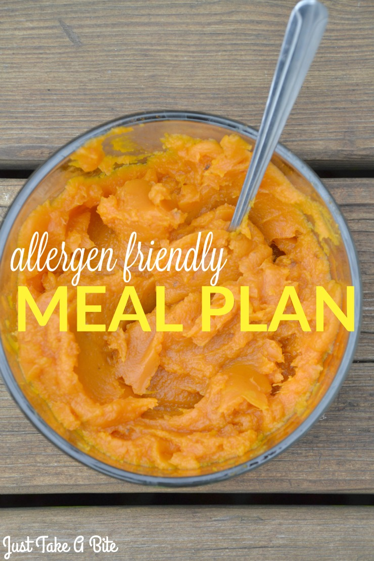 Allergen Friendly Meal Plan | Just Take A Bite This week's agenda and menu focuses on rotation, trying new foods, hosting guests and Halloween!