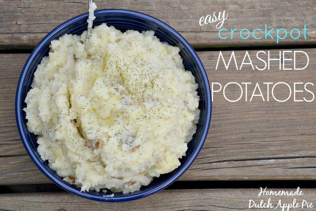 Easy Crockpot Mashed Potatoes | Just Take A Bite