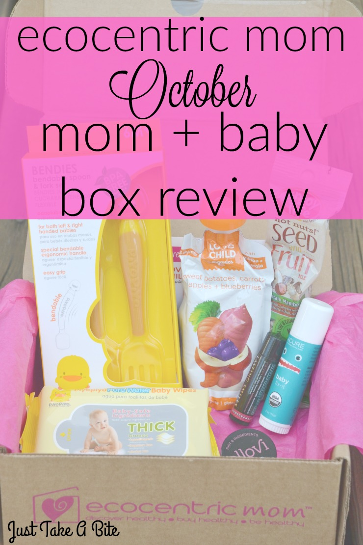 Ecocentric Mom Ocotber Mom + Baby Box Review   Just Take A Bite