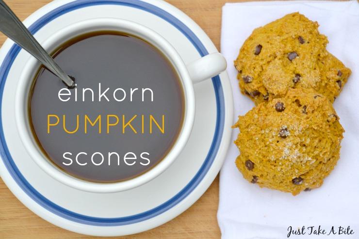 Einkorn Pumpkin Scones | Just Take A Bite