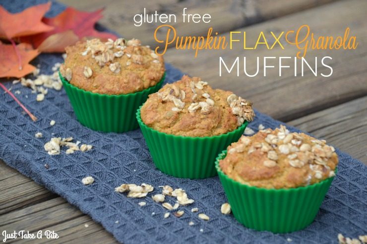 Gluten Free Pumpkin Flax Granola Muffins | Just Take A Bite