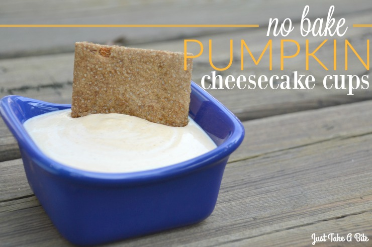 No Bake Pumpkin Cheesecake Cups | Just Take A Bite