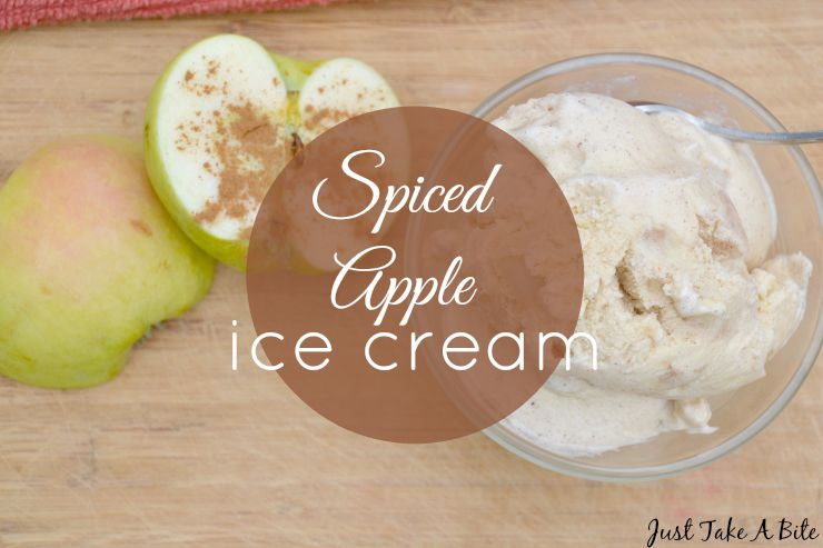 Spiced Apple Ice Cream | Just Take a Bite
