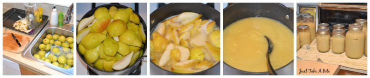 How to make and can pear sauce - an easy alternative to applesauce