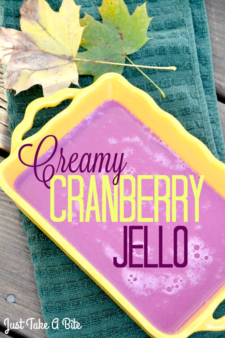 Creamy Cranberry Jello | Just Take A Bite