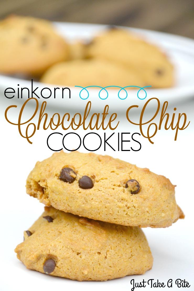 Einkorn Chocolate Chip Cookies | Just Take A Bite | A twist on the classic chocolate chip cookie that is free of dairy, nuts, soy, rice, corn and coconut