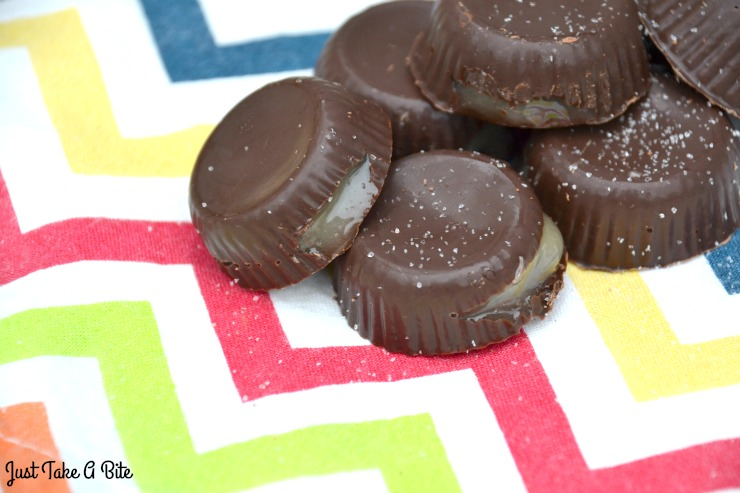 Five Minute Salted Honey Chocolates   Just Take A Bite