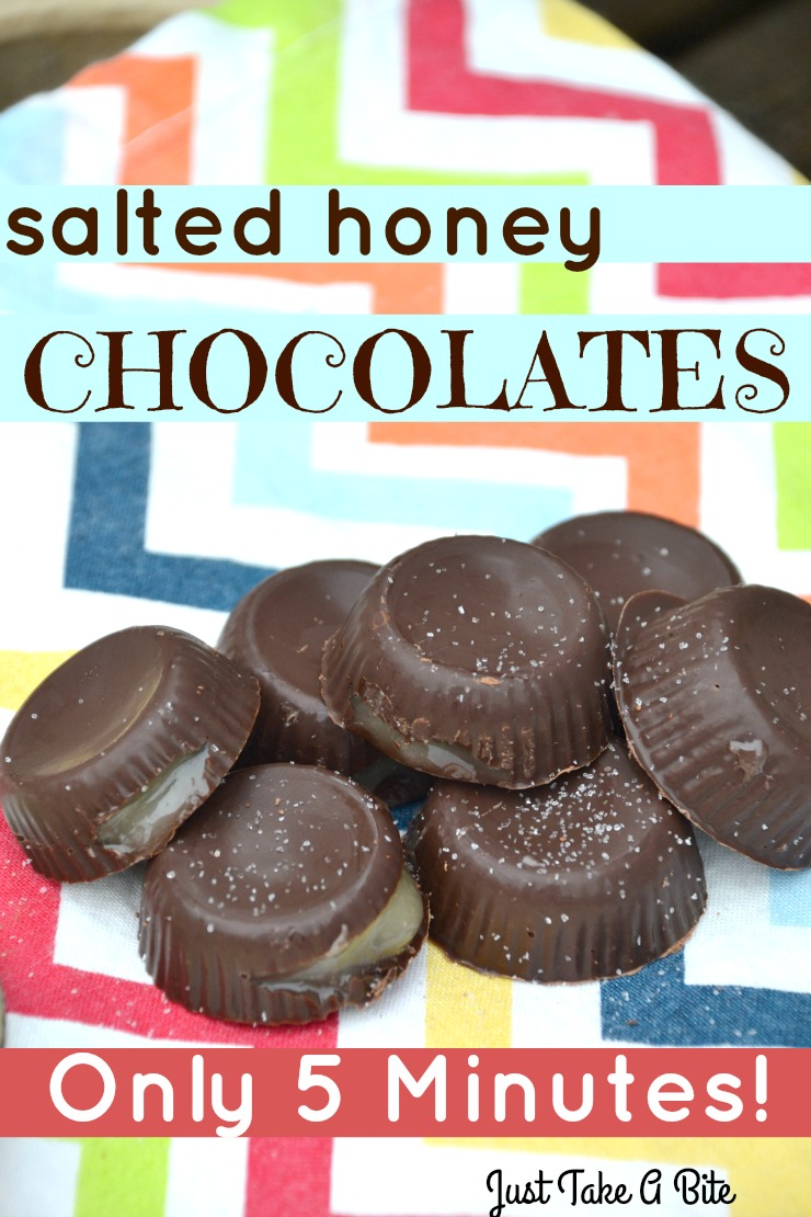 Five Minute Salted Honey Chocolates | Just Take A Bite| Salted creamy honey between layers of sweet chocolate