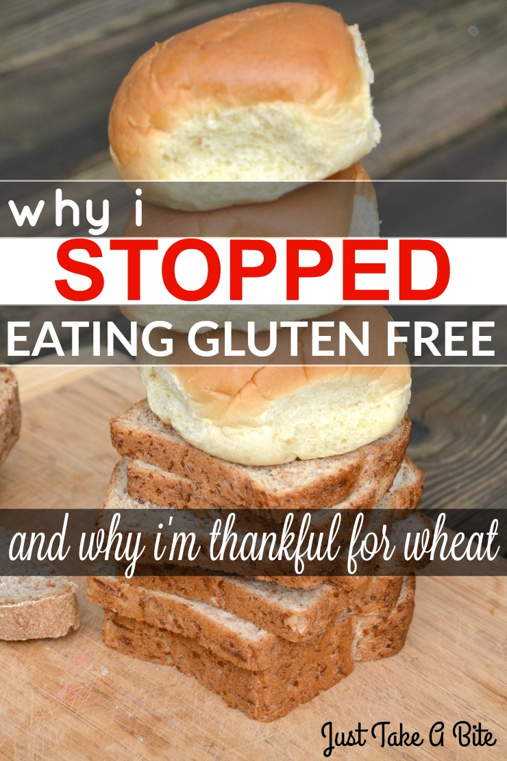 Why I Stopped Eating Gluten Free | Just Take A Bite I used to eat gluten free...but now I don't. Wheat has literally been a life saver for me and my daughter.