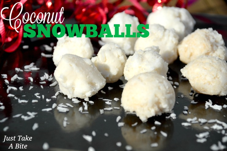 Easy Coconut Snowballs | Just Take A Bite