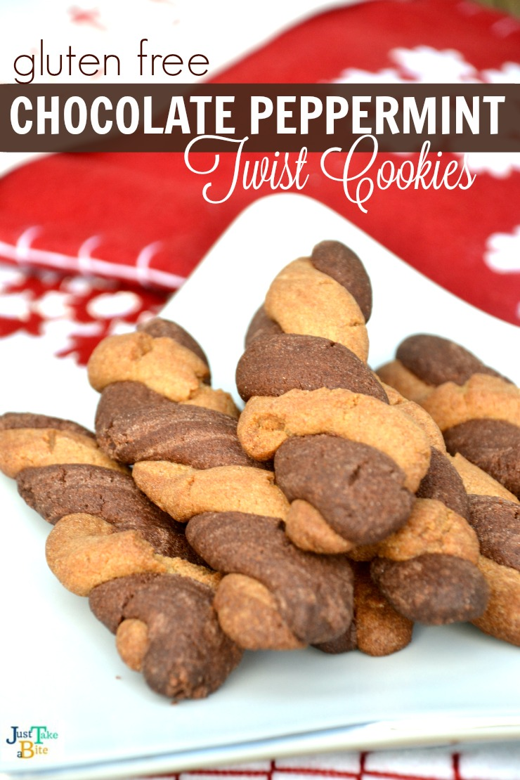 Gluten free chocolate peppermint twist cookies   Just Take A Bite