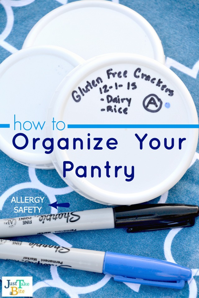 Pantry Organization Tips For Allergy Safety | Just Take A Bite