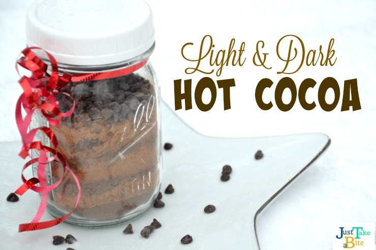 Light and Dark Hot Cocoa | Just Take A Bite