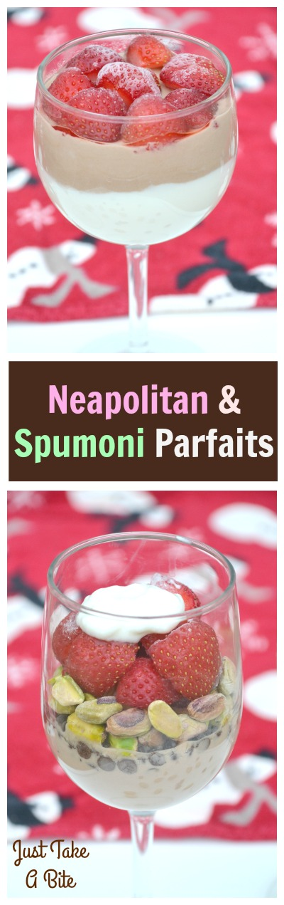 Neapolitan and Spumoni Parfaits | Just Take A Bite