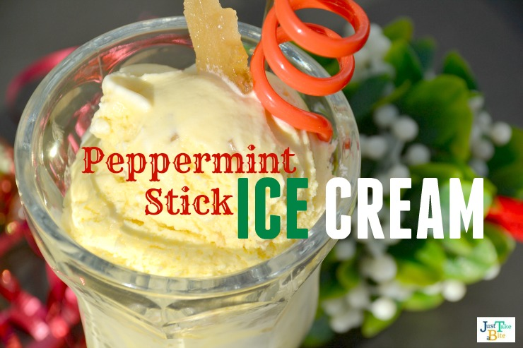 Peppermint Stick Ice Cream | Just Take A Bite