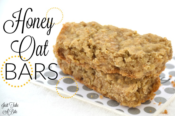 Simple Honey Oat Bars | Just Take A Bite