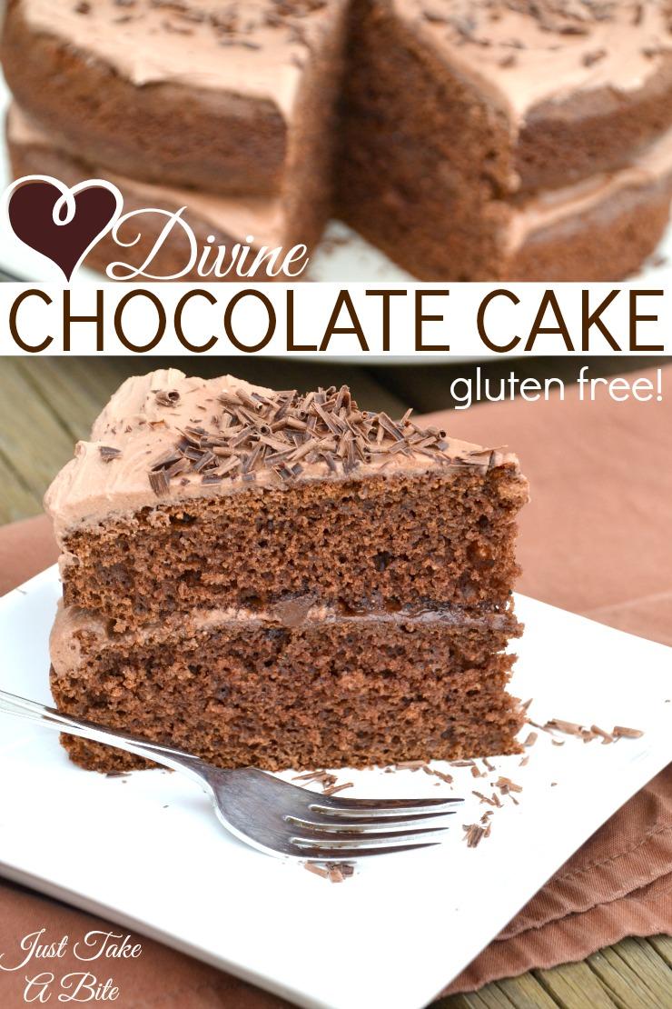 Divine Chocolate Cake | Just Take A Bite