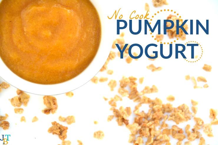 Allergen Free No Cook Pumpkin Yogurt | Just Take A Bite