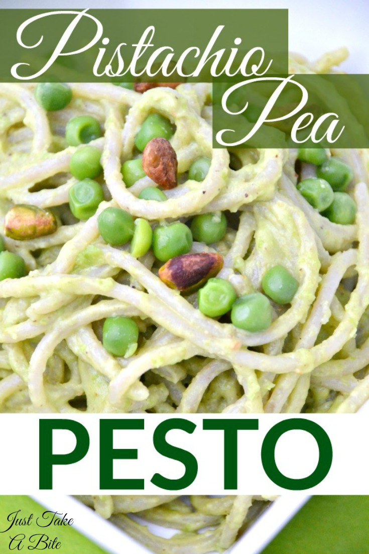 Pistachio Pea Pesto | Just Take A Bite