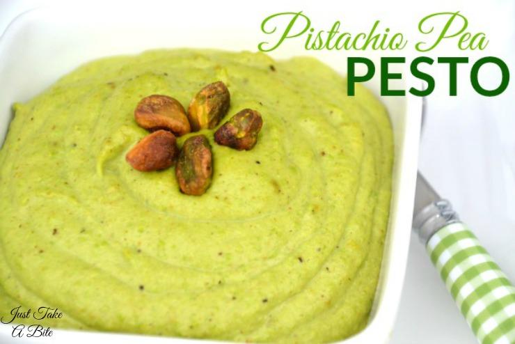 Pistachio Pea Pesto | Just Take A Bite