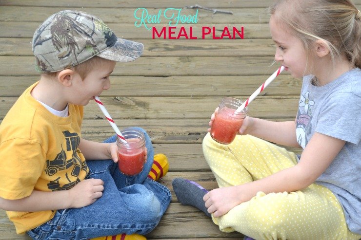This week's real food meal plan and agenda is all about getting back to a normal routine after spring break.