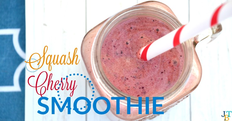 This squash cherry smoothie is so refreshing and free of allergens.
