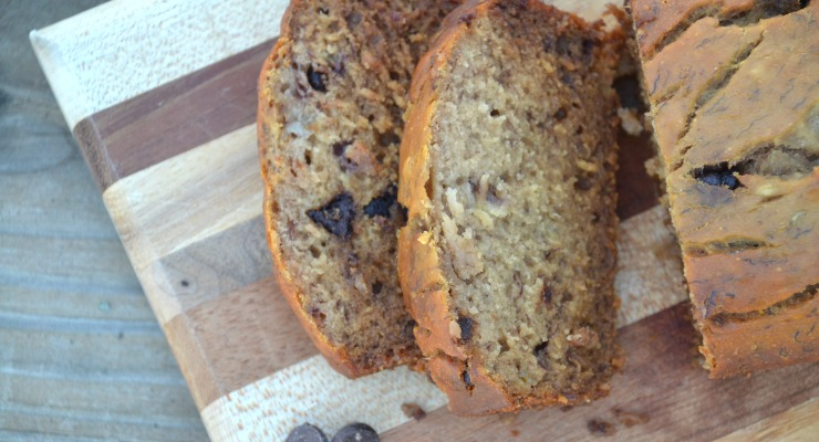 Missing your favorite banana bread because of allergies? This version is easy to make, holds together well and is free of gluten, dairy, nuts, corn, soy and coconut.