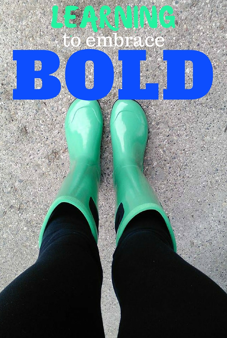 This summer I'm learning to embrace BOLD...again. Plus a giveaway!