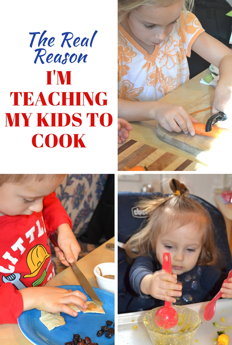 The REAL Reason I'm teaching my kids to cook - and it's not to get me off the hook!