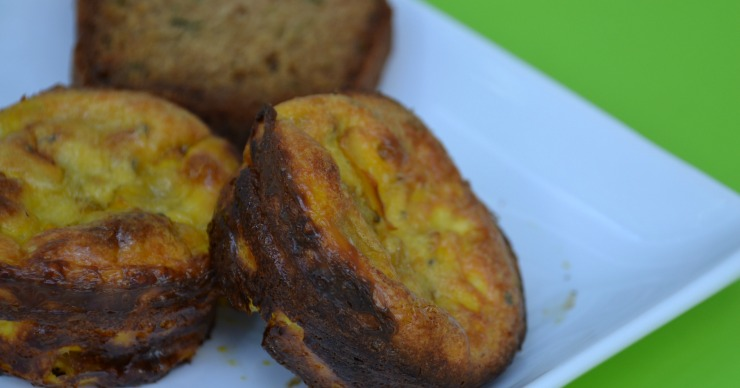 Looking for a kid-friendly breakfast that utilizes summer's bounty of zucchini? These creamy zucchini egg muffins are perfect. Find out the two secret ingredients that make them so good.
