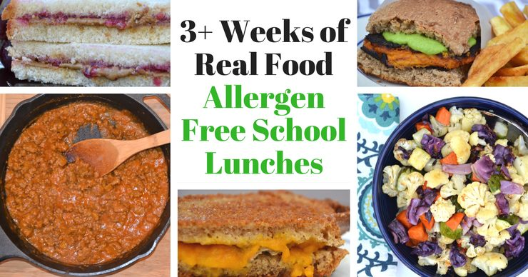 Don't let the thought of packing allergen free school lunches give you anxiety. I'm sharing my top picks, including enough choices to create at least three weeks of completely different lunches!